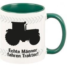 """Tasse """"Echte Männer fahren Traktor"""" Geschenkidee Geburtstag Landwirtschaft Farm"""