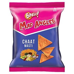 Bingo! Mad Angles Chaat Masti 72g Crunchy Corn-Based Chips Chaat Flavour 6 Packs