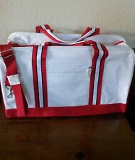 **LAST ONE**  WHITE w/ RED OVERNIGHT TOTE BAG ~~ Tommy Hilfinger