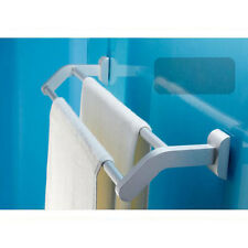Space Aluminum Towel Rail Holder Wall Mounted Double Pole Bathroom Towel Bar 367