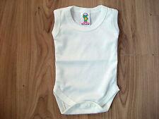 Baby Body Suits/Popper Vests Underwear Sleeveless Newborn,0-3.3-6,6-12,12-18+