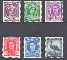 """1942 KGVI DEFINITIVE SET OF """"6"""" MINT UNHINGED"""
