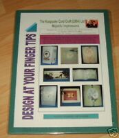 Glitter Girls KEEPSAKE Card Craft 2004 Ltd MAJESTIC IMPRESSIONS Embossing Board