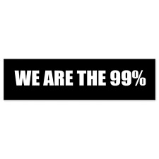 "We are the 99% Occupy Wall Street car bumper sticker decal 8.5"" x 3"""
