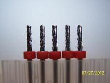 "(5)  1/8"" (.1250"")  CHIPBREAKER CARBIDE ROUTER BURRS, FT Kyocera Tycom"
