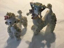 Two Vintage 1950's spaghetti poodles Inarco and Arnart