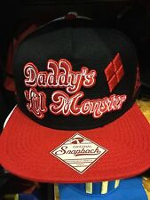 "Suicide Squad HARLEY QUINN ""Daddy's Lil Monster"" SnapBack Hat. One Size Fits All"
