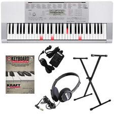 Casio LK-280 Lighted-Key Portable Electronic Keyboard KEY ESSENTIALS BUNDLE