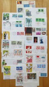 Japan, Lot Ersttagsbriefe, Bedarfsbriefe (16St.), tolle Erhaltung