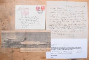 Mayfairstamps Argentina 1930s NYRBA Flight Cover Letter & Newspaper Clipping wwm