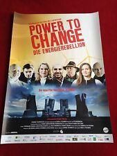 Power to Change - Die Energierebellion Kinoplakat Poster A1, Carl Fechner