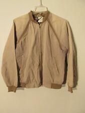 V7603 JCPenney Sport Beige Cotton 60's Vintage Varsity Jacket Men's M