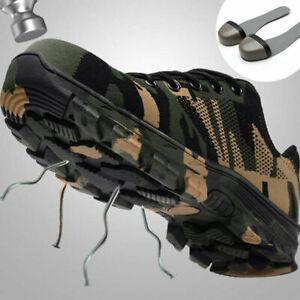 Zapatos De Trabajo Seguridad De Construcción Para Hombre Botas De Punta De Acero
