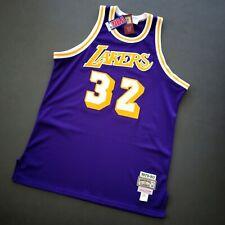 100% Authentic Magic Johnson Mitchell Ness 79 80 Lakers Jersey Size 48 XL Mens