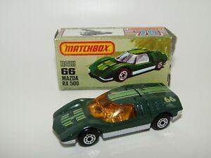 Matchbox Superfast No 66 Mazda RX500 USA Box Lesney Hong Kong MIB