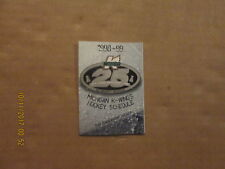 IHL Michigan K-Wings Vintage1998-99 Silver Anniversary Hockey Pocket Schedule