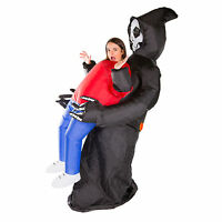 Adult Scary Inflatable Grim Reaper Fancy Dress Costume Outfit Suit Halloween