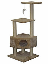"Go Pet Club 51"" Cat Kitty Play Tree Furniture Tower w/ Scratch Post  & House"
