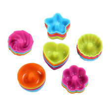 24 Pieces Silicone Doughnut Cake Pop Mold Pudding Donuts Moulds Baking Tools