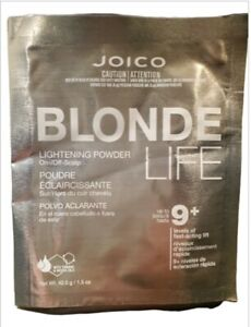 Joico Blonde Life Lightening Powder just for blondes 1.5 OZ Packet - PACK OF 5