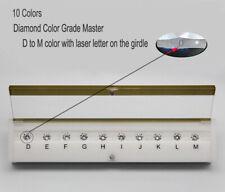GIA Master Set 10CT DIAMOND Color Grading grader COLOR TESTER D-M 10 Colors