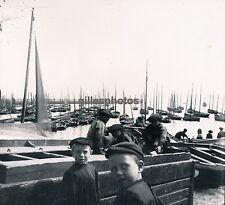 DOUARNENEZ c. 1940 - Enfants au Port Finistère Bretagne - DIV1681