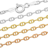 """Luxury White Gold Plated 925 Sterling Silver Singapore Rope Chain 16"""" 40cm"""
