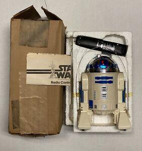 Vintage Star Wars RC R2-D2 Complete w/Brown Mailer Box Works! 1978 Kenner R2D2