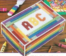 ABC'S SCHOOL BOX FOR CRAYONS OR PENCILS PLASTIC CANVAS PATTERN INSTRUCTIONS