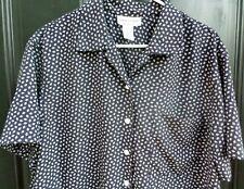 Rena Rowan for Saville Blouse/Top Sz 14 Black & White w/Diamond Pattern
