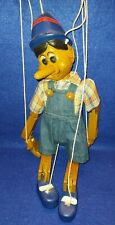 Vintage 1970's String Operated Wooden Pinocchio Puppet