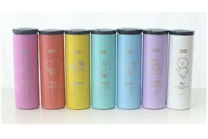 BTS BT21 Official Stainless Straight Tumbler Cup Portable Bottle  460ml 15.5Oz.