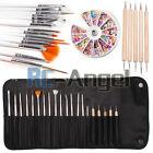 20 Pcs Nail Art Design Painting Dotting Pen Brushes Set Tips Tool / Nail Kit