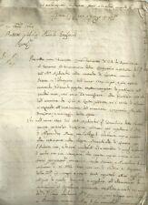 Lettera Autografo Paolo Gagliardi Possedimenti Brescia Lavone Valtrompia 1764