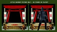 "1/6 GI JOE BACKDROP 15""X15"" - IDEAL FOR 1/6 GI JOE SIDESHOW SNAKE EYES COBRA"