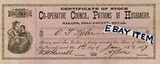 1877 SALADO TEXAS State Grange PATRONS OF HUSBANDRY agriculture ARCHIBALD J ROSE