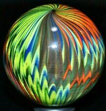 "HANDMADE GLASS MARBLE/1.500""-1000 RIBBON ONIONSKIN-LIME GREEN,GOLD LUTZ,ROYAL+"