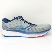 Saucony Mens Ride ISO 2 S20514-1 Gray Blue Running Shoes Lace Up Low Top Size 11