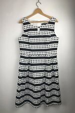 Principles By Ben De Lisi Geometric Print Fit And Flare Dress Sz 16 Sleeveless