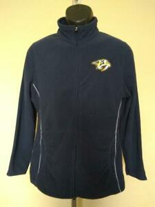 New Nashville Predators Womens Size M Medium Blue Majestic Pullover Jacket