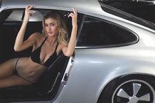 Dominic Petruzzi Photo of Stunning Model, In Bikini Sitting In Porsche #2, 17x22