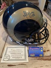 Marshall Faulk Autographed/Signed Authentic Full Size Helmet St Louis Rams LA