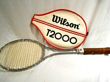 Vintage Wilson T-2000 Metal Tennis Racket W/Sheath-Jimmy Connors Used This