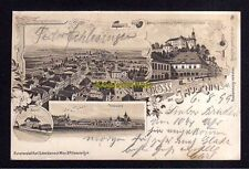 115693 AK Jauernig Schlesien 1899 Litho Bahnhof Schloss Johannesberg Gasthof z.