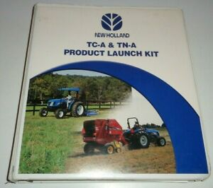 New Holland TC-A TN-A Series Tractor Product Launch Kit Sales Manual CD & Binder