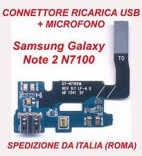 CONNETTORE RICARICA SAMSUNG GALAXY NOTE 2 N7100 FLEX DOCK USB E MICROFONO