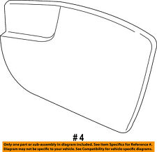 FORD OEM 17-18 Escape Outside Mirrors-Front Door-Mirror Glass Left GJ5Z17K707F