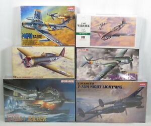 Lot 6 Model Plane Kits 1:48 Dragon 5517 Hasegawa 09086 Academy 2162 NEW SEALED