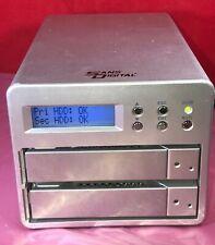 1TB Sans Digital Mobile 2 Bay RAID1 NAS Server w/ LCD V.36.B0F MR2UT Esata USB 2
