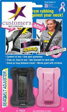 Car Seat Belt Adjuster Safety Shoulder Neck Comfort Travel Seatbelt Black/Pink 2